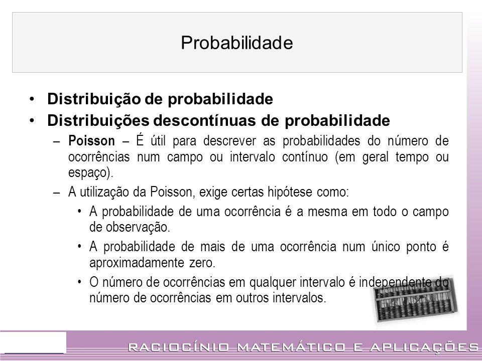 Probabilidade Distribuição de probabilidade