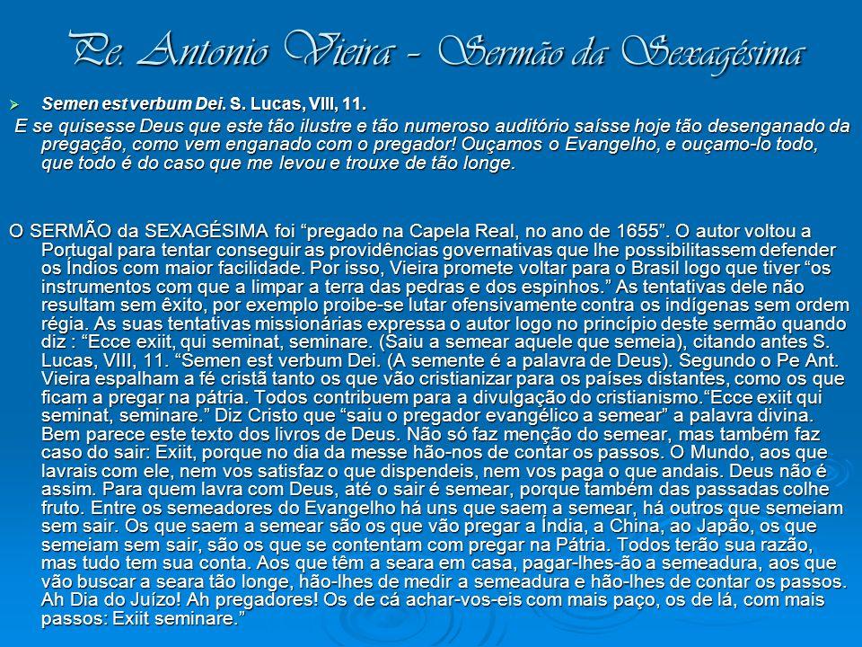 Pe. Antonio Vieira – Sermão da Sexagésima