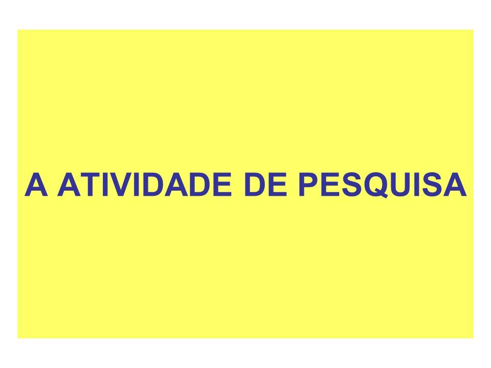 A ATIVIDADE DE PESQUISA