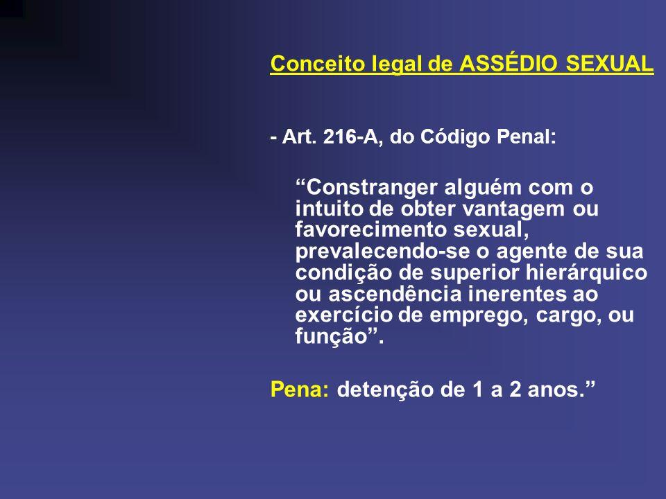 Conceito legal de ASSÉDIO SEXUAL