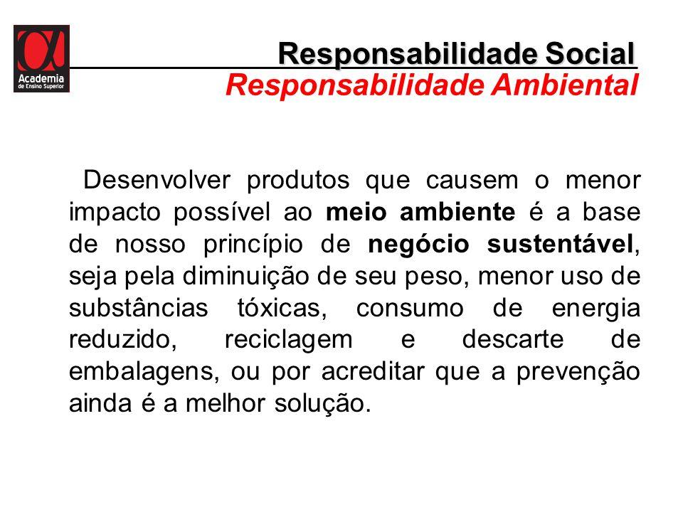 Responsabilidade Social Responsabilidade Ambiental
