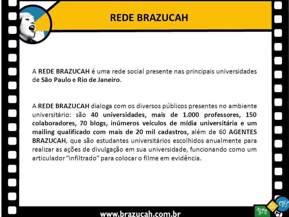 REDE BRAZUCAH A REDE BRAZUCAH é uma rede social presente nas principais universidades de São Paulo e Rio de Janeiro.
