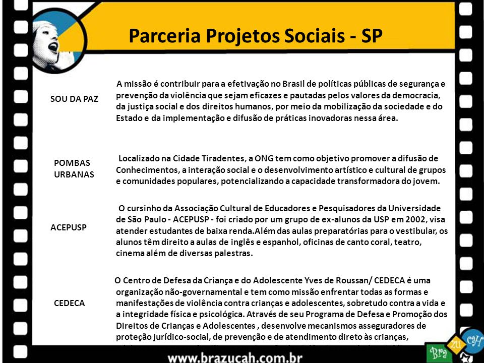 Parceria Projetos Sociais - SP