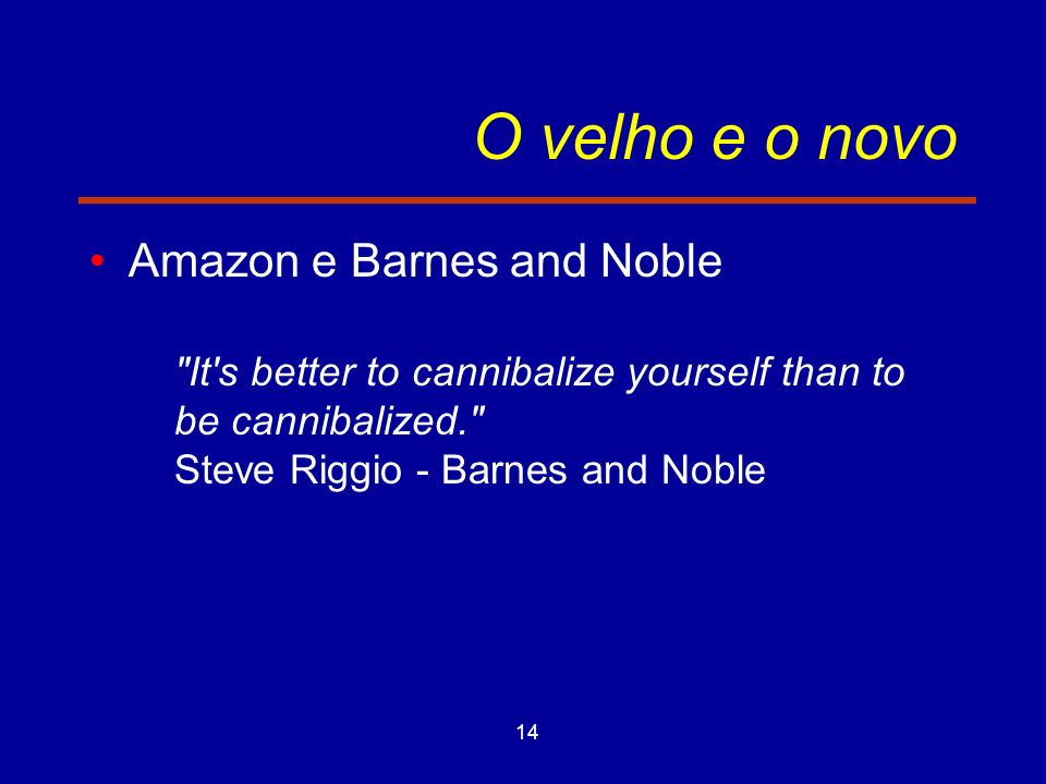 O velho e o novo Amazon e Barnes and Noble