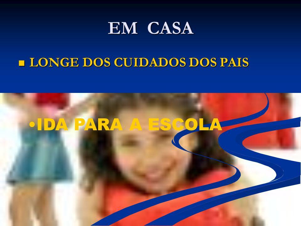 EM CASA LONGE DOS CUIDADOS DOS PAIS IDA PARA A ESCOLA