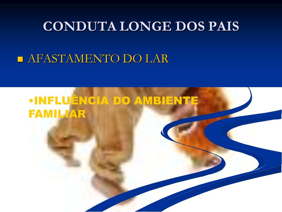 CONDUTA LONGE DOS PAIS AFASTAMENTO DO LAR