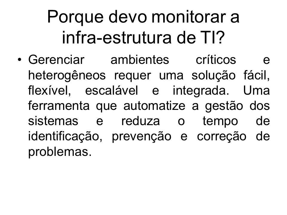 Porque devo monitorar a infra-estrutura de TI