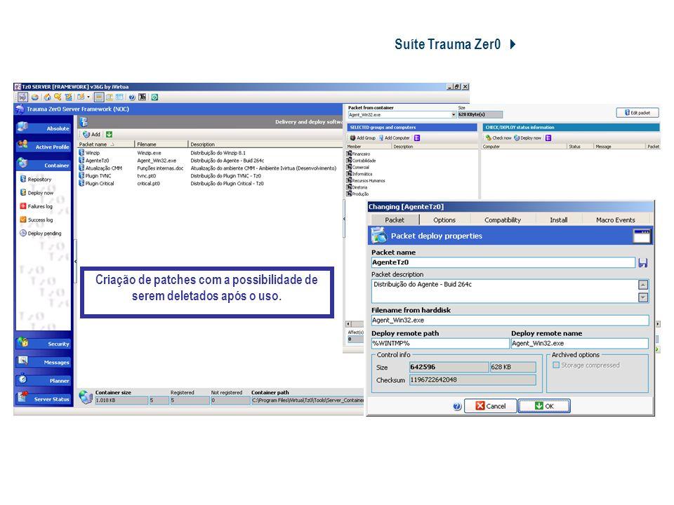 Redução de TCO Suíte Trauma Zer0 4 Patch Management 4 Manutenção;