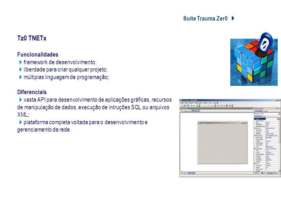 Tz0 TNETx Suíte Trauma Zer0 4 Tz0 TNETx Funcionalidades