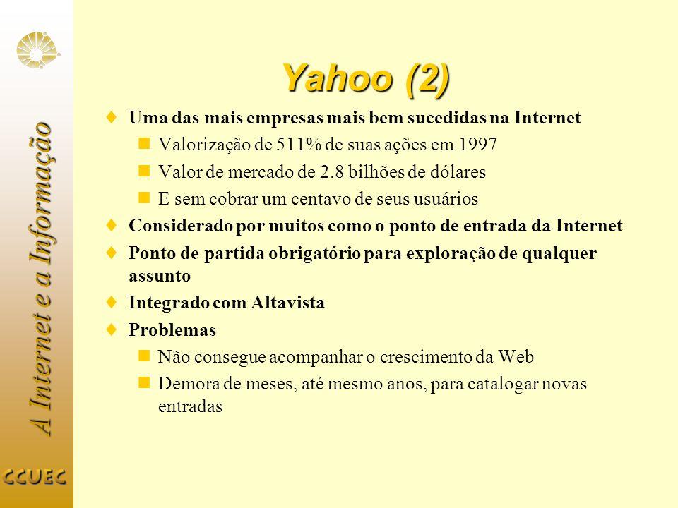 Yahoo (2) Uma das mais empresas mais bem sucedidas na Internet