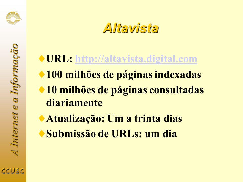 Altavista URL: http://altavista.digital.com