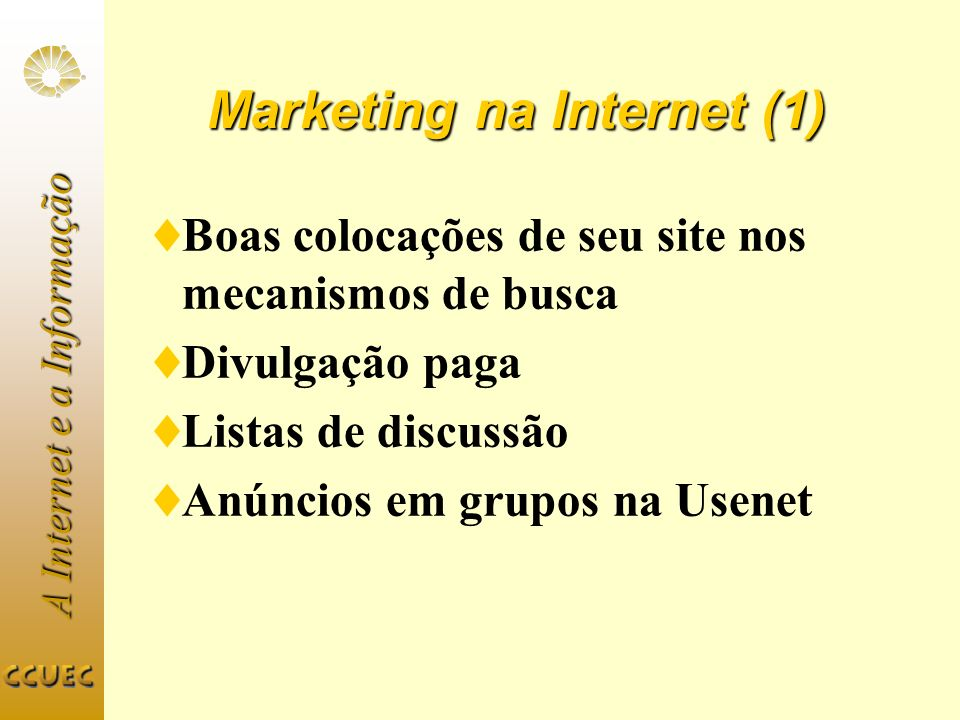 Marketing na Internet (1)