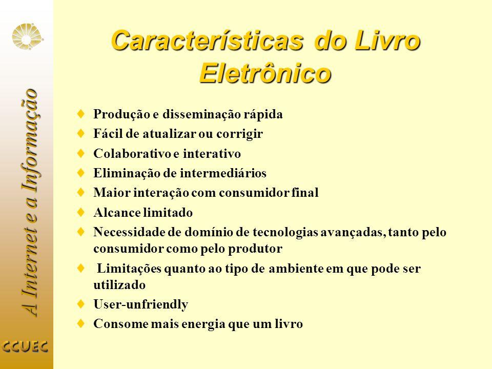 Características do Livro Eletrônico