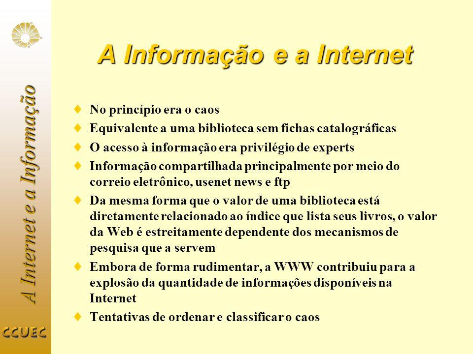 A Informação e a Internet