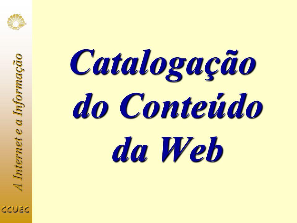 Catalogação do Conteúdo da Web