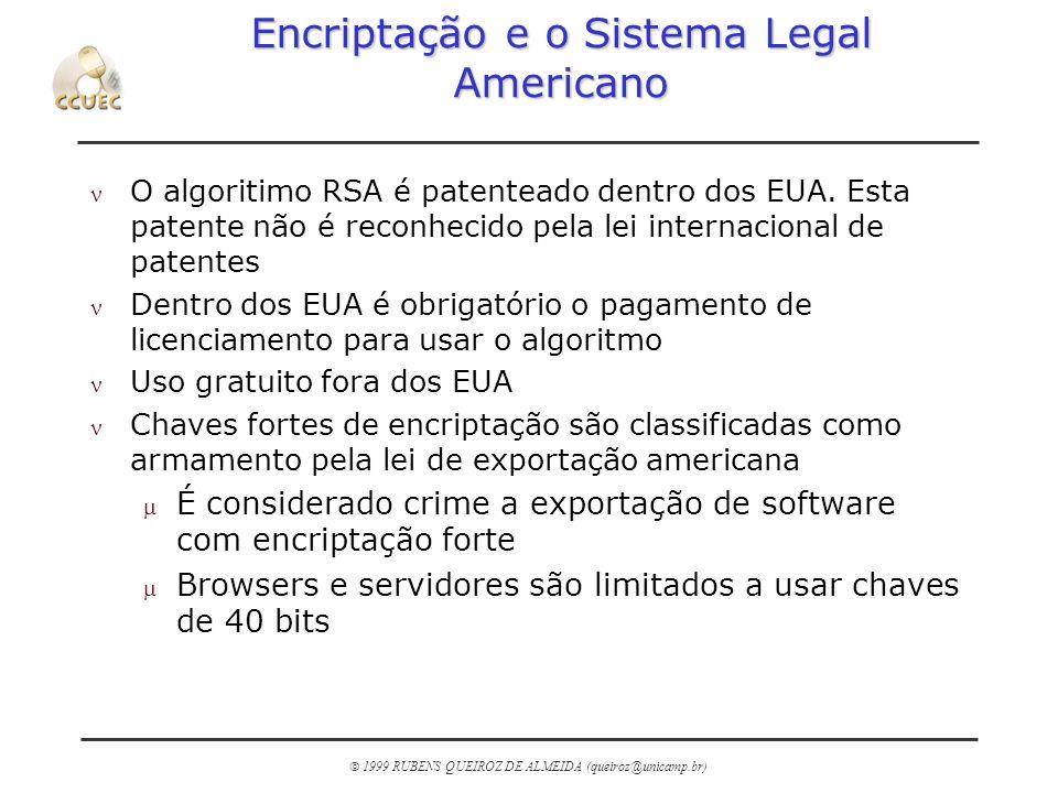 Encriptação e o Sistema Legal Americano