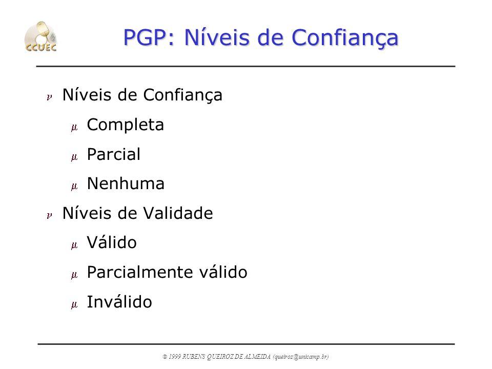 PGP: Níveis de Confiança