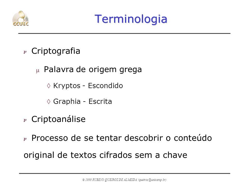 Terminologia Criptografia Criptoanálise