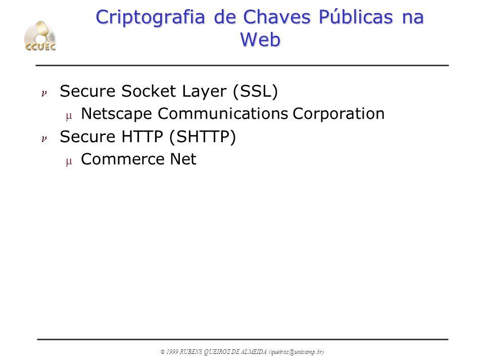 Criptografia de Chaves Públicas na Web