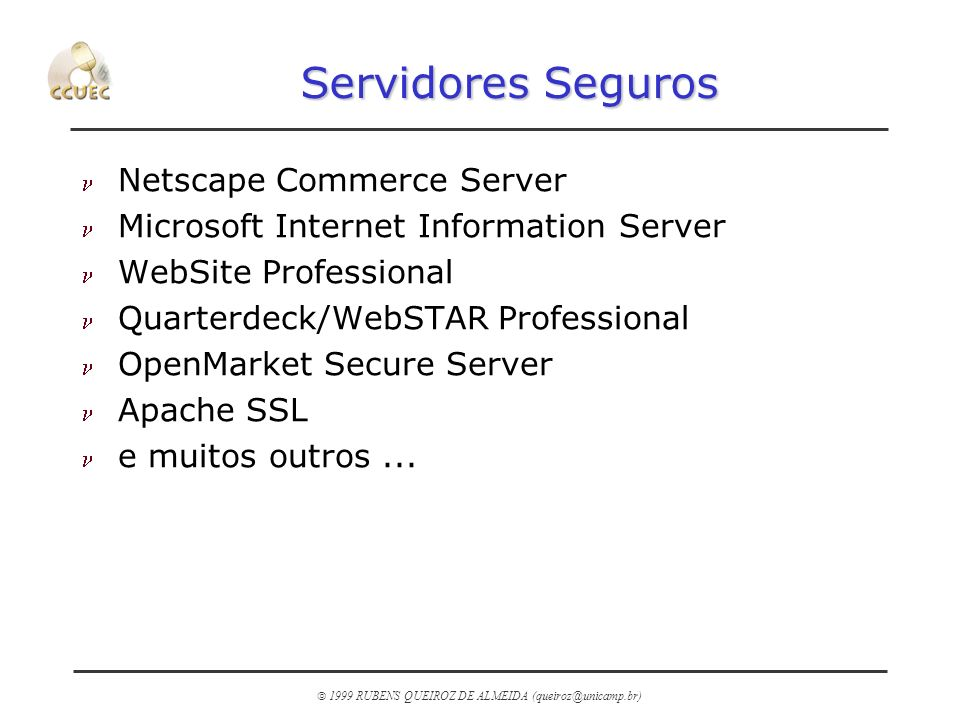 Servidores Seguros Netscape Commerce Server