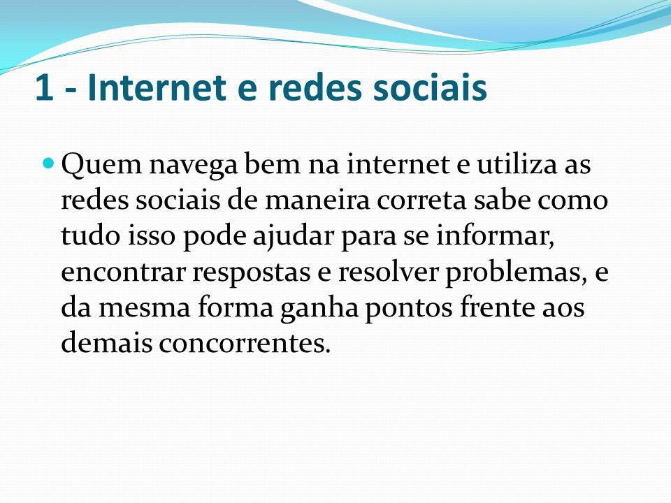 1 - Internet e redes sociais