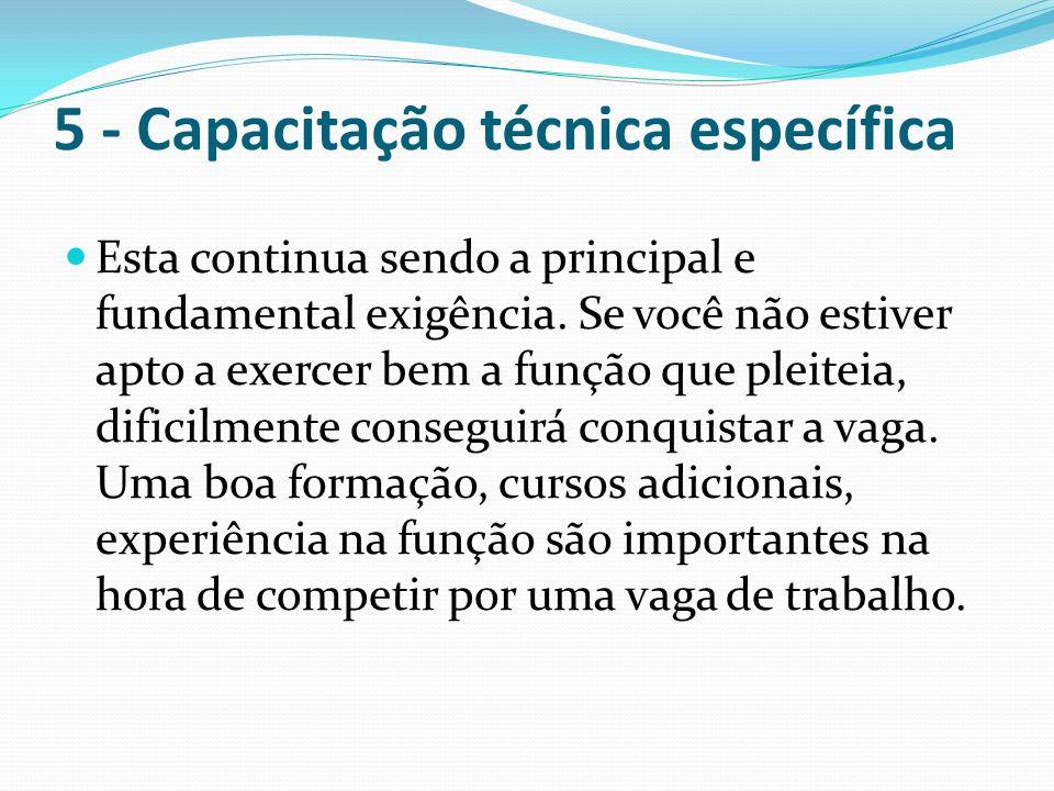 5 - Capacitação técnica específica