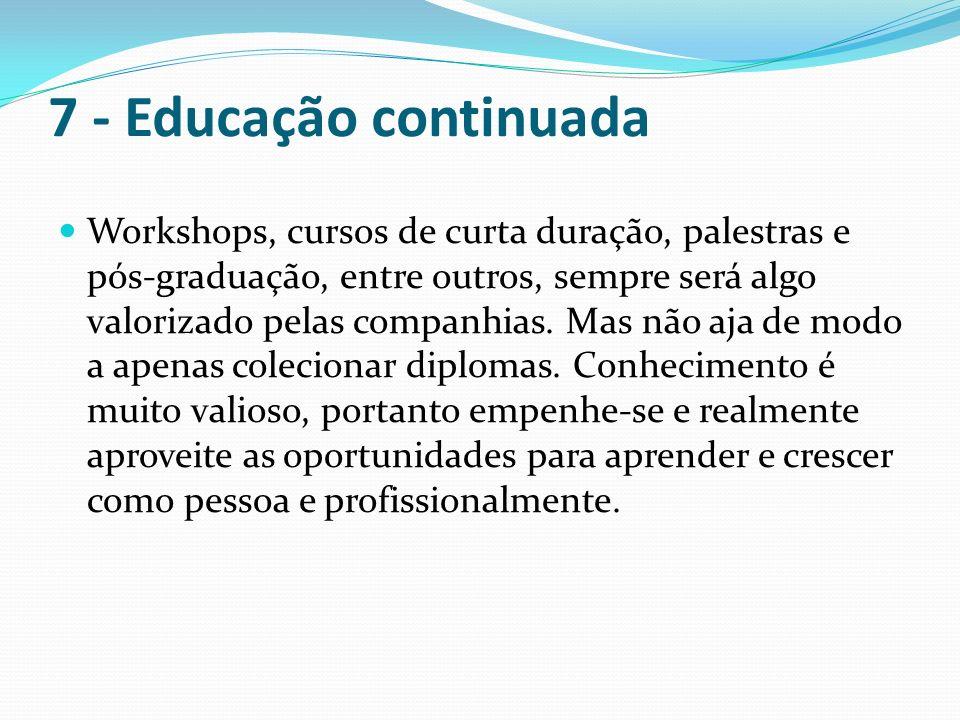 7 - Educação continuada