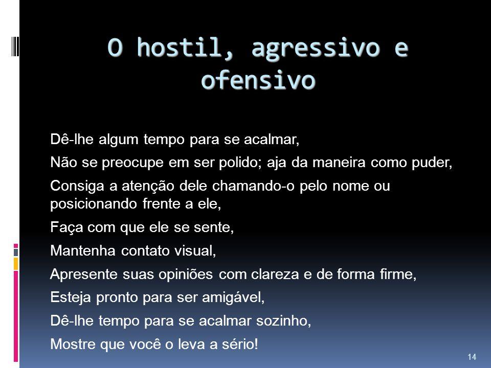 O hostil, agressivo e ofensivo