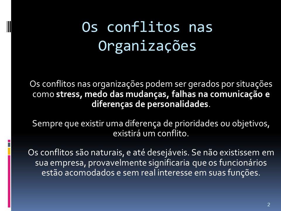 Os conflitos nas Organizações