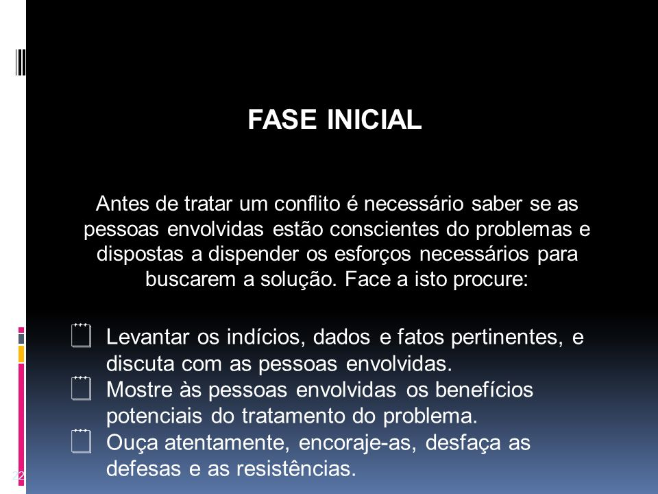 FASE INICIAL