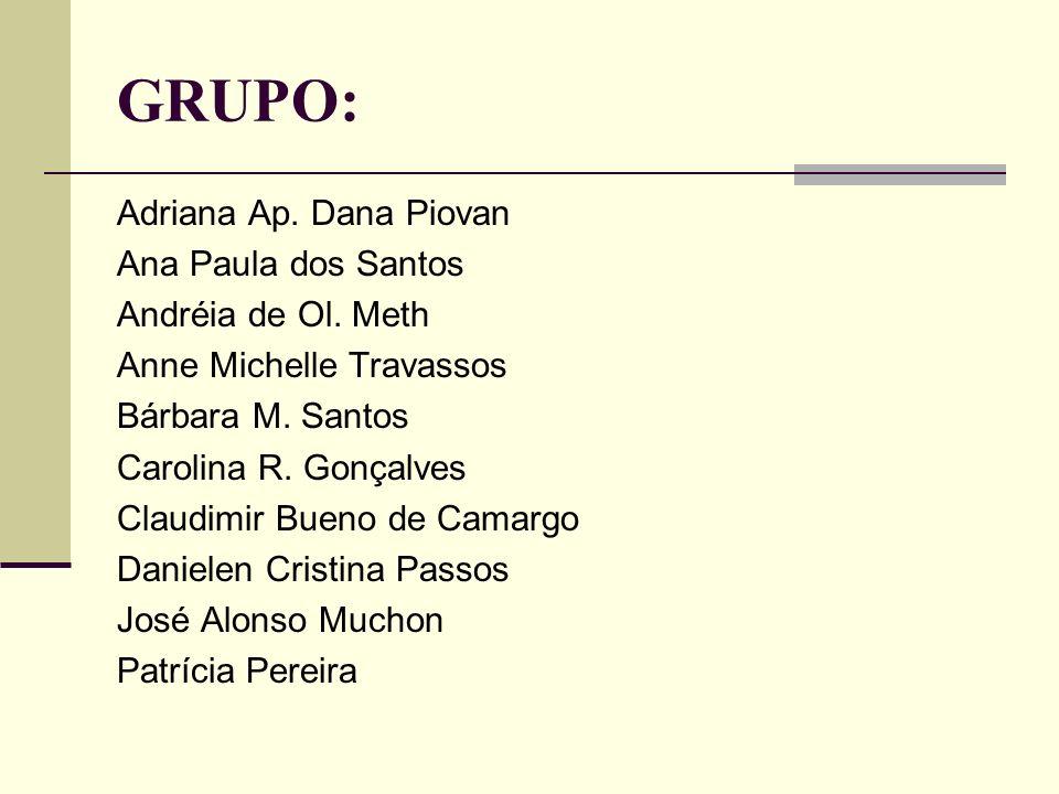 GRUPO: Adriana Ap. Dana Piovan Ana Paula dos Santos
