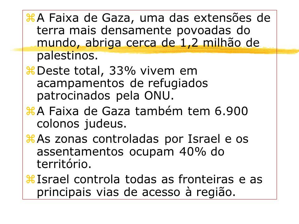 A Faixa de Gaza, uma das extensões de terra mais densamente povoadas do mundo, abriga cerca de 1,2 milhão de palestinos.