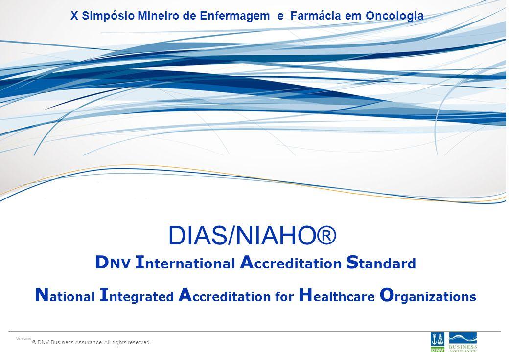 DIAS/NIAHO® DNV International Accreditation Standard