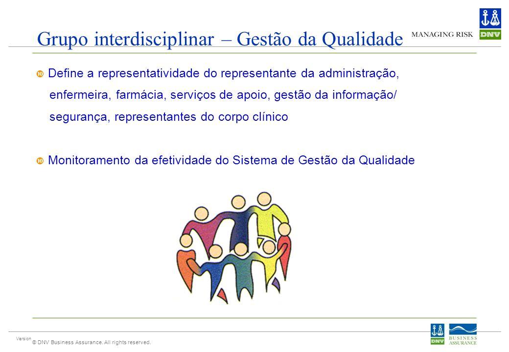 Grupo interdisciplinar – Gestão da Qualidade