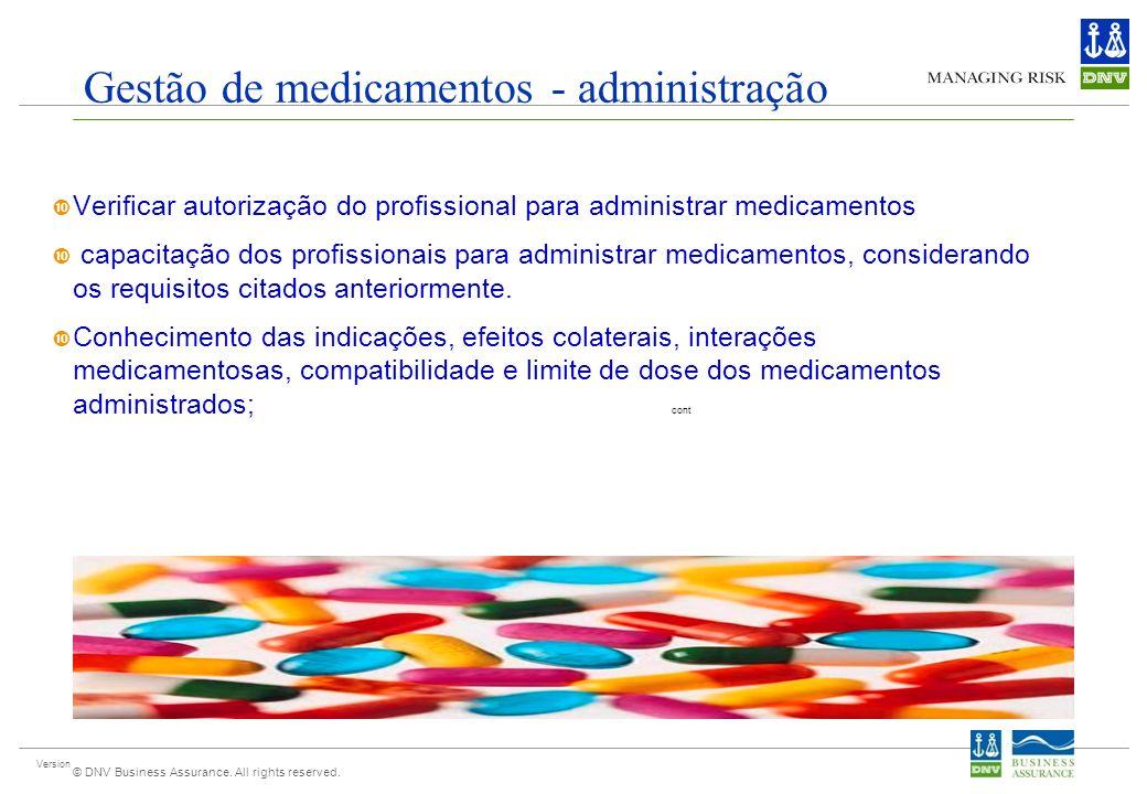 Gestão de medicamentos - administração