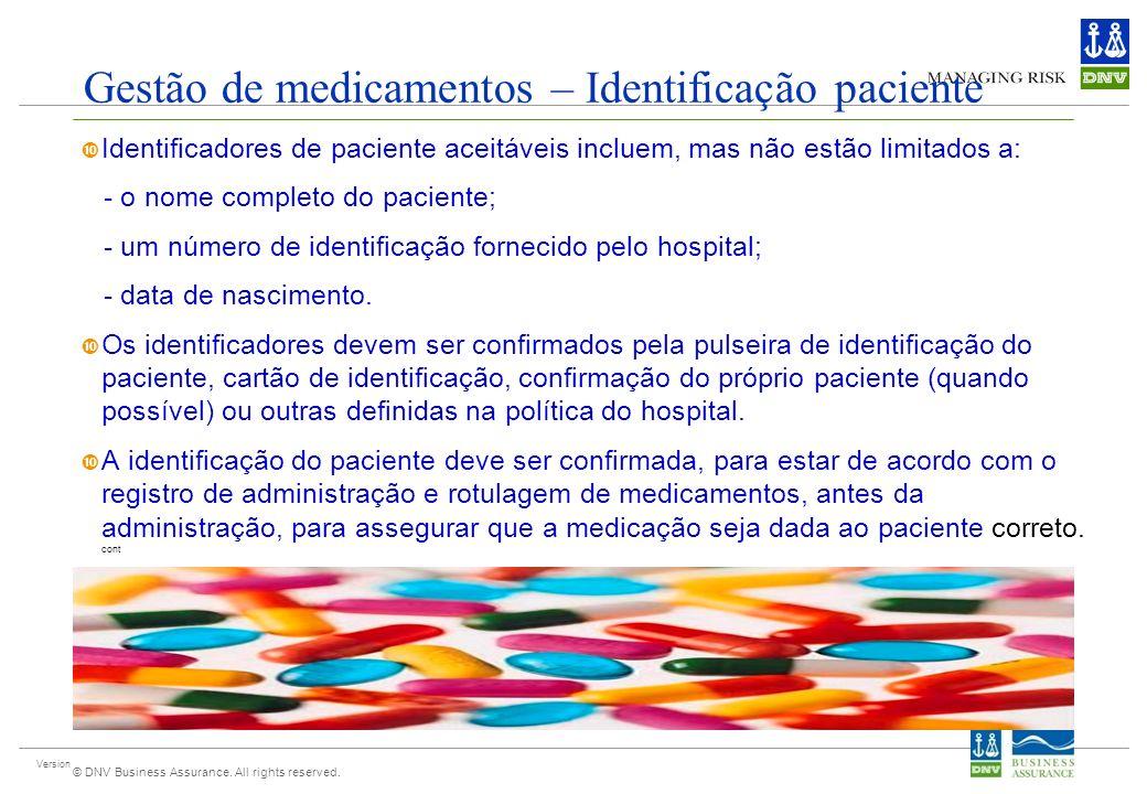 Gestão de medicamentos – Identificação paciente