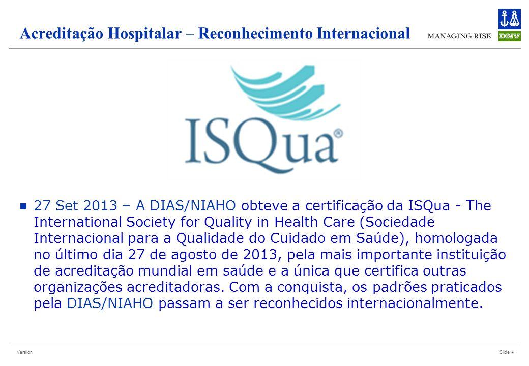 Acreditação Hospitalar – Reconhecimento Internacional