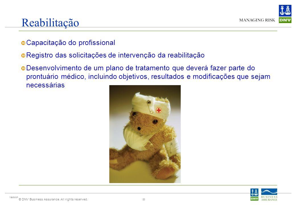 Reabilitação Capacitação do profissional