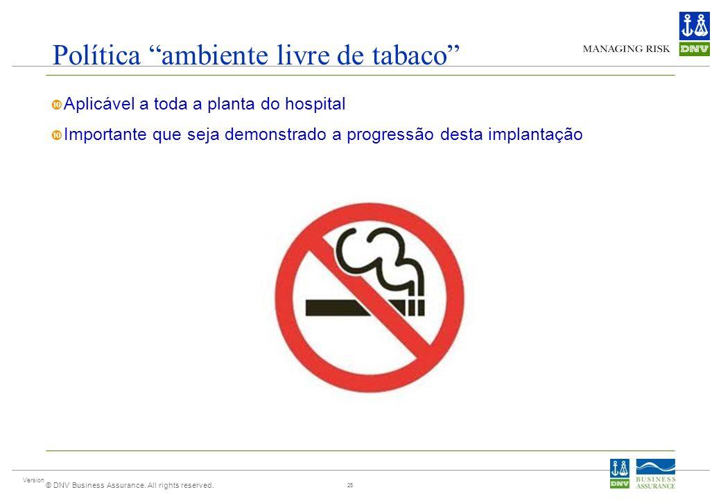 Política ambiente livre de tabaco