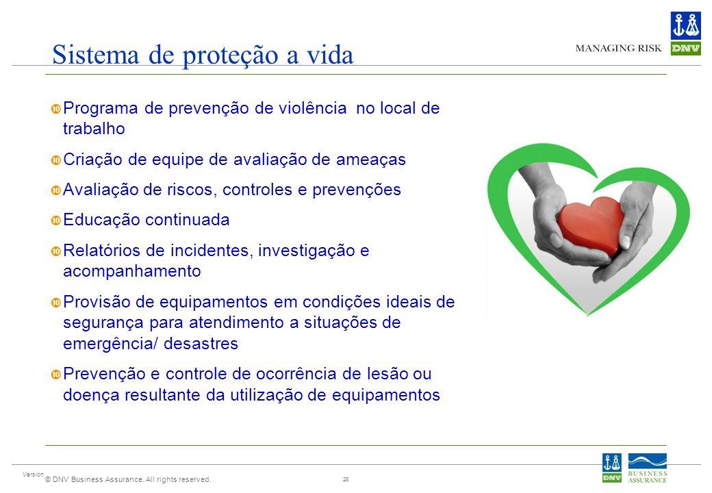 Sistema de proteção a vida