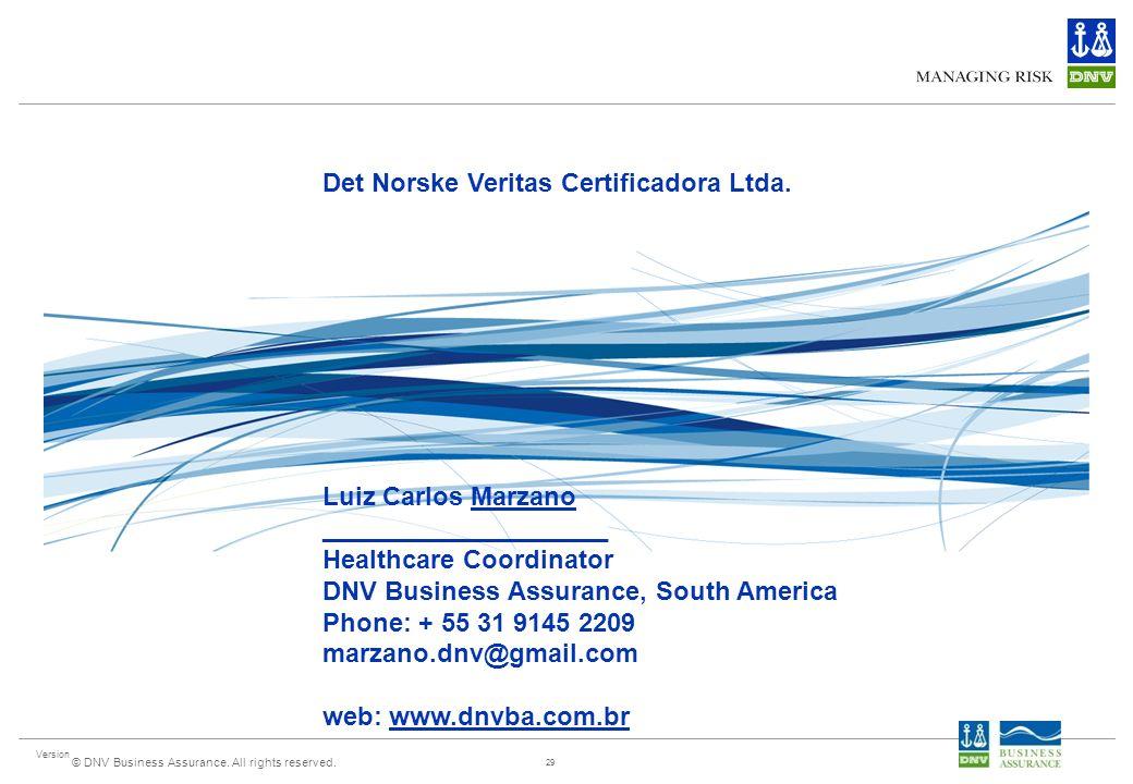 Det Norske Veritas Certificadora Ltda.