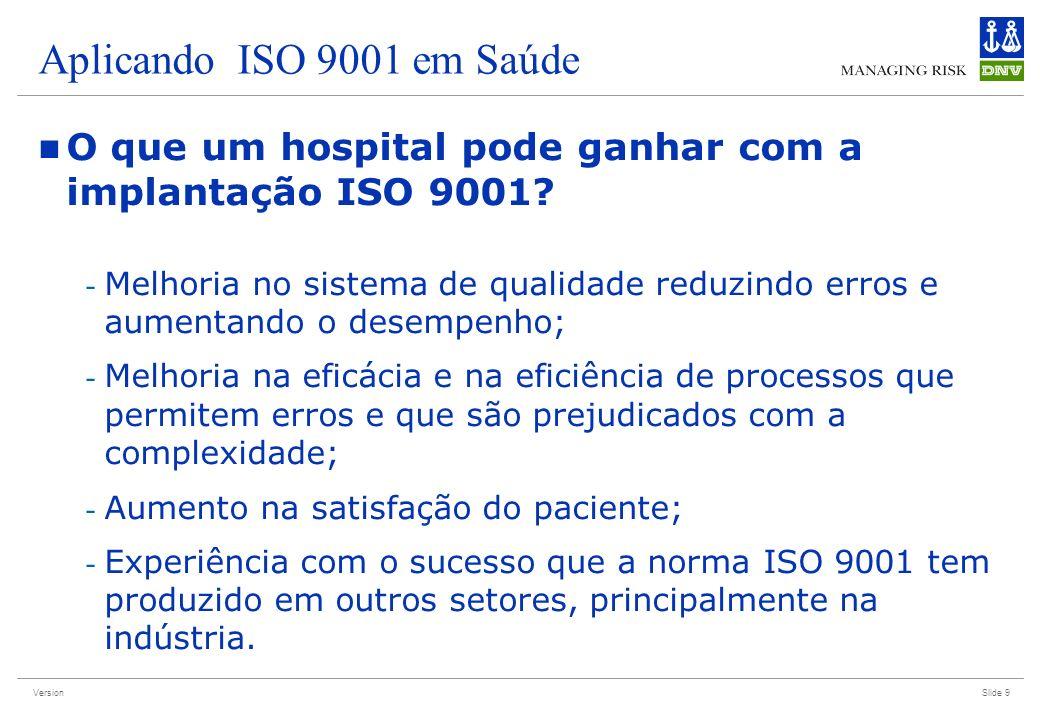 Aplicando ISO 9001 em Saúde O que um hospital pode ganhar com a implantação ISO 9001