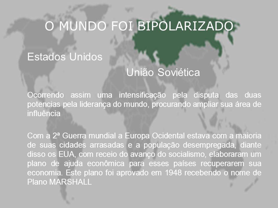 O MUNDO FOI BIPOLARIZADO