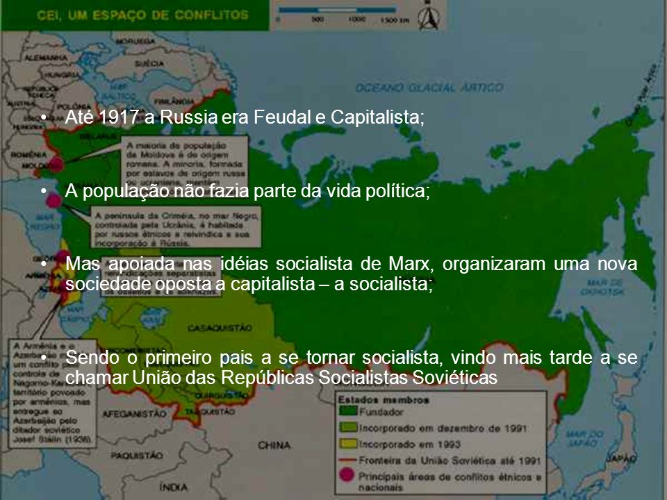 Até 1917 a Russia era Feudal e Capitalista;