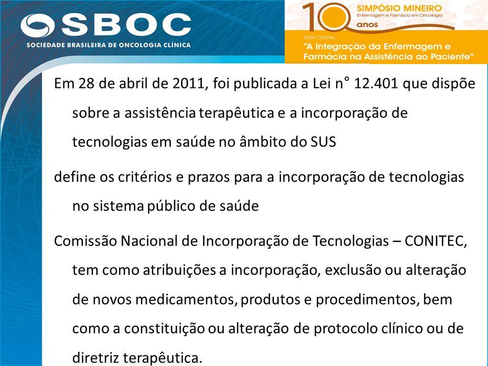 Em 28 de abril de 2011, foi publicada a Lei n° 12