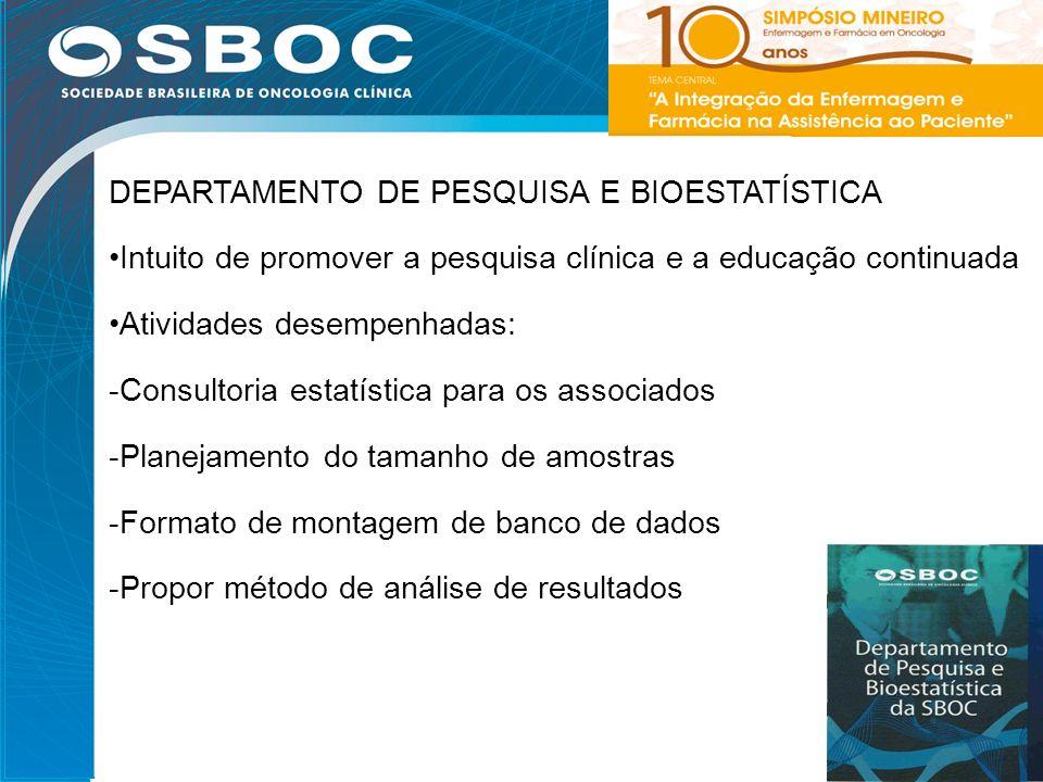 DEPARTAMENTO DE PESQUISA E BIOESTATÍSTICA