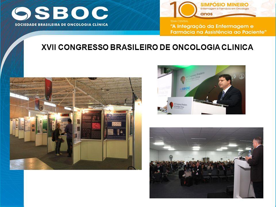 XVII CONGRESSO BRASILEIRO DE ONCOLOGIA CLINICA