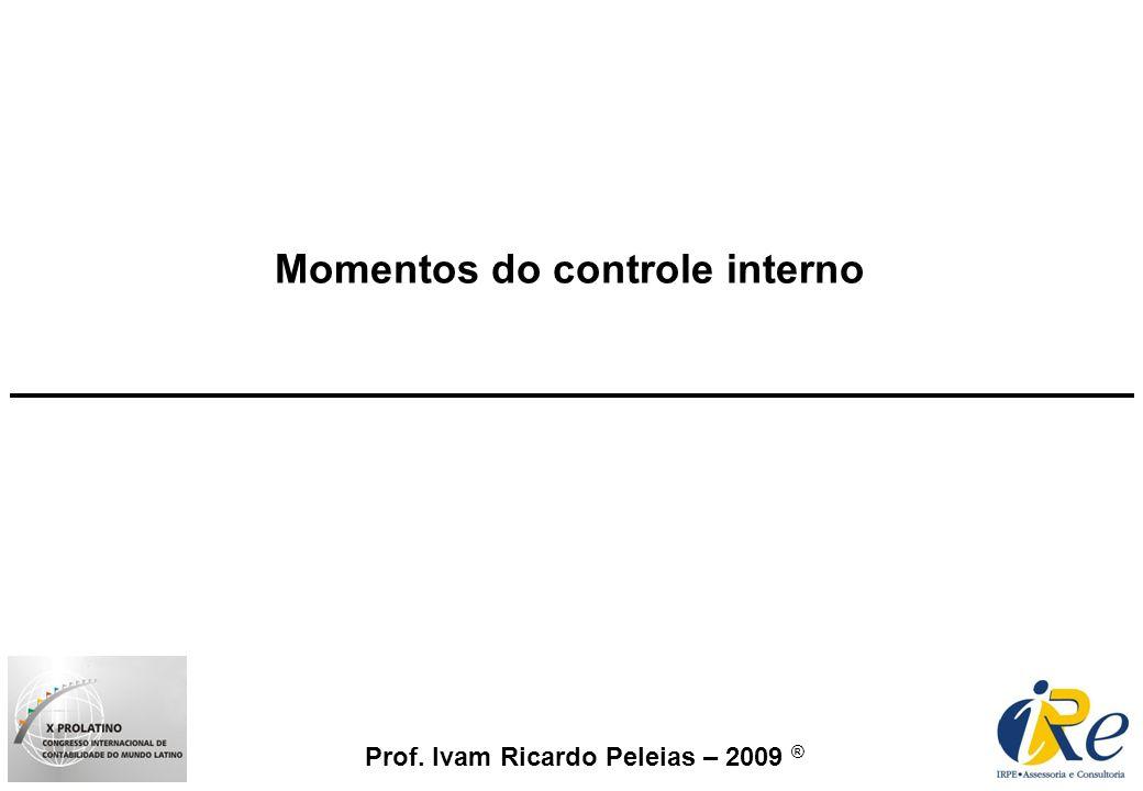 Momentos do controle interno