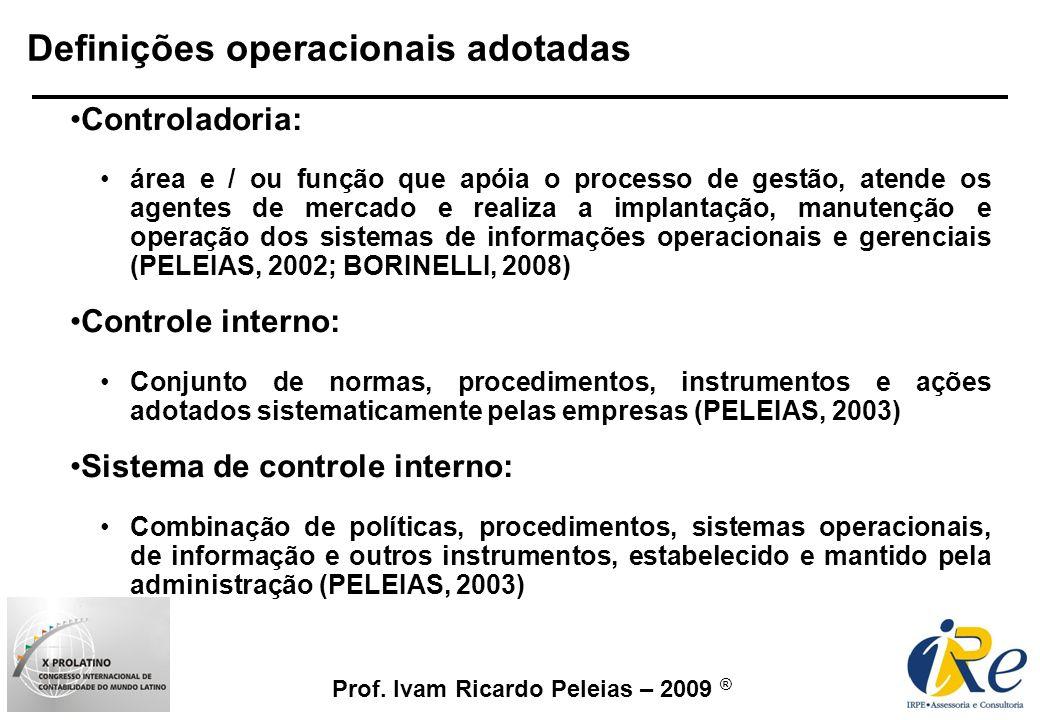 Definições operacionais adotadas