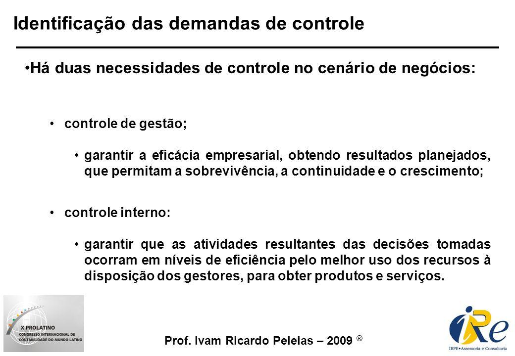 Identificação das demandas de controle